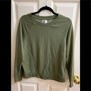 Simple olive green crew neck